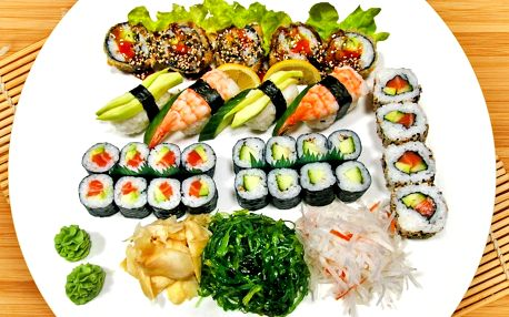 Sushi sety s 29 nebo 39 ks: krevety, losos i tuňák