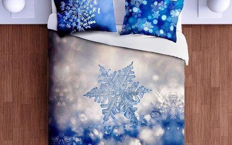 Gipetex Natural Dream 3D italské povlečení 100% bavlna Ice Star-Ledová hvězda