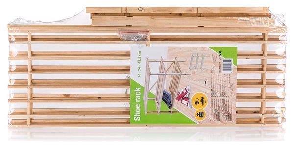 Botník dřevěný 74 x 48,5 x 26 cm, 3 police2