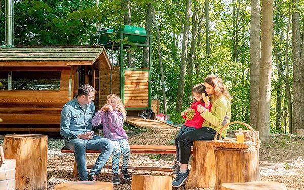 Rodinný pobyt v treehouse | Dolní Morava | Do 31.3.2021 (do min.teploty -5 stupňů C). | 2 dny/1 noc.2