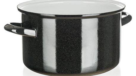 Belis Smaltovaný hrnec Standard 24 cm, černá, pr. 24 cm