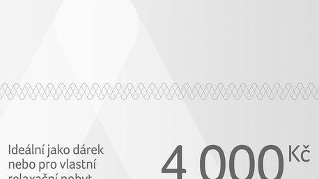 Dárkový poukaz na pobyt v ČR i zahraničí - dlouhá platnost