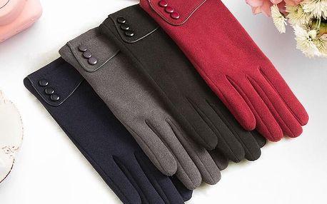 Dámské elegantní rukavice s hřejivou vrstvou