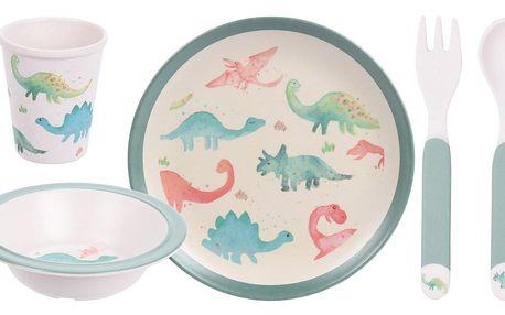 5dílná dětská jídelní sada, Dinosaurus