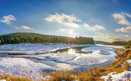 Krušné hory ideální pro lyžaře i turisty Hotelu Boží Dar - Excalibur *** se vstupem do muzea a polopenzí