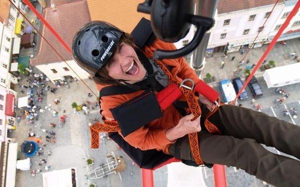 SCAD diving - volný pád z 50 metrů bez lana