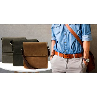 Elegantní pánské tašky z eko kůže