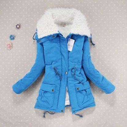 Dámský kabát na zimu - zateplený