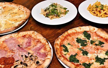 Pravá italská pizza nebo pasta pro 1 nebo 2 osoby