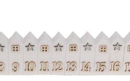 Adventní kalendář House bílá, 52 cm