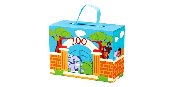 Bino Cestovní kufřík se zvířáky ZOO2