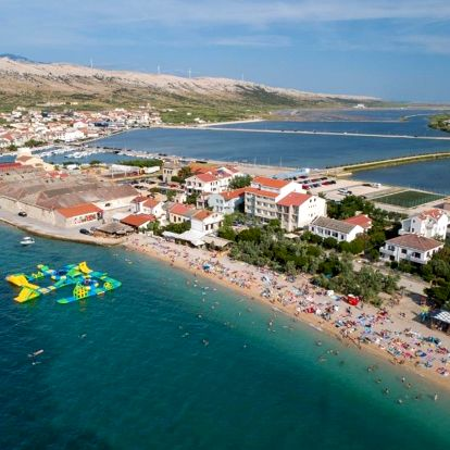 Chorvatsko, Pag: Rooms and Apartments Galeb -Beach side