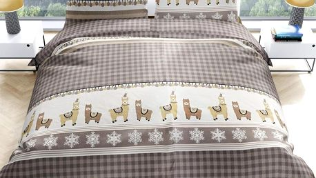 Bierbaum Bierbaum povlečení flanelové 3233 Winter Lama 140x200/70x90 cm