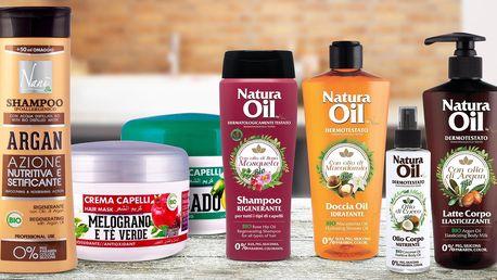 Italské vlasové masky, šampony, balzámy i oleje