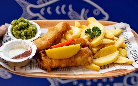Fish & Chips a nápoj pro jednoho i dva s sebou