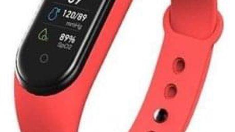 Smart náramek M5 červený