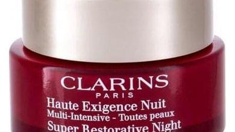 Clarins Super Restorative Night 50 ml noční péče pro všechny typy zralé pleti tester pro ženy