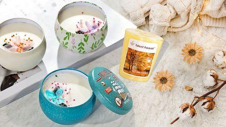 Vonné svíčky s aromaterapeutickým olejem
