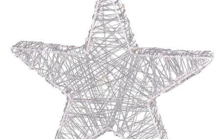 Vánoční hvězda Savona stříbrná, 30 LED