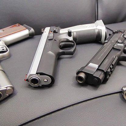 Střelba ze 4 zbraní - 4 ráží