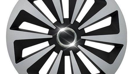 "Compass Fox Ring Silver/Black 16"""