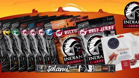 Balíček plný proteinů: 10× sušené maso Indiana Jerky