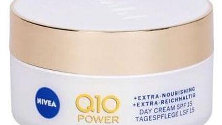 Nivea Q10 Power Anti-Wrinkle + Extra Nourishing SPF15 50 ml vyživující krém proti vráskám pro ženy