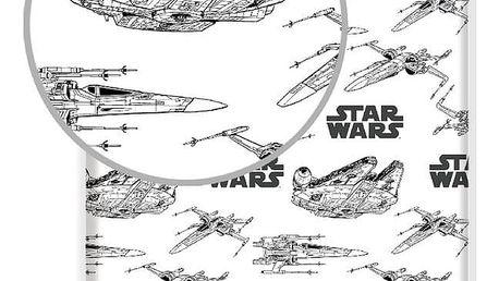 Jerry Fabrics Bavlněné prostěradlo Star Wars Vehicles 2019, 90 x 200 cm