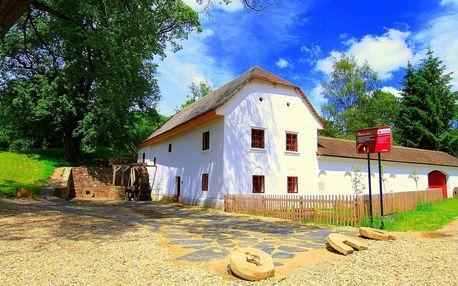 Výhodná nabídka v historickém mlýně na jižní Moravě se snídaní