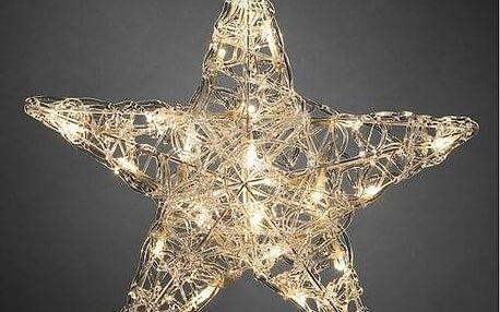 Vánoční 5 cípá hvězda pr. 40 cm, 24 LED