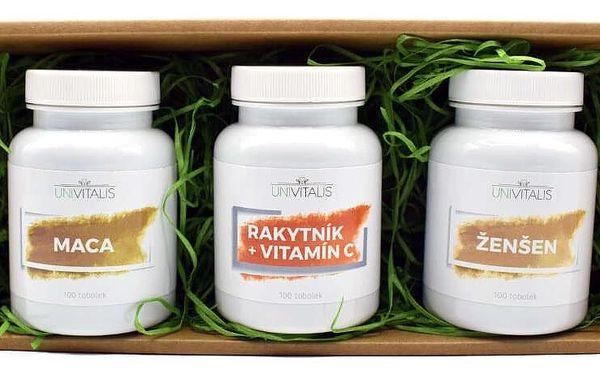 Dárkový balíček plný vitamínů B-Komplex + Vápník Hořčík Zinek + Vitamín C Šípek4