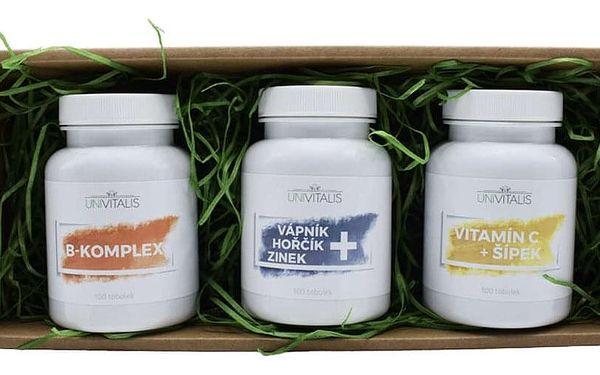 Dárkový balíček plný vitamínů B-Komplex + Vápník Hořčík Zinek + Vitamín C Šípek5