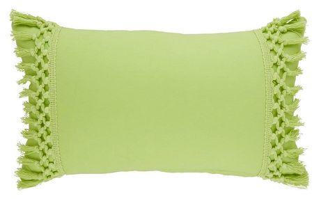 Dekorační Polštář Leila, 30/50cm, Zelená