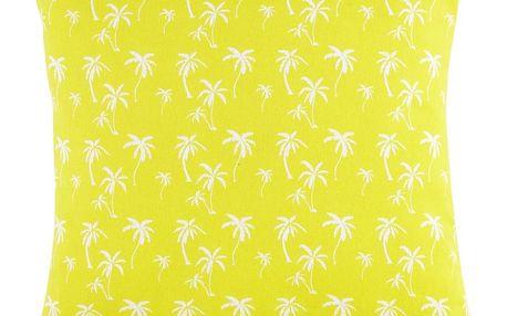 Dekorační Polštář Lady Palms, 45/45cm, Žlutá