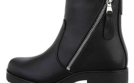 Dámské kotníkové boty na vysokém podpatku
