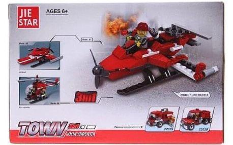 Dětská stavebnice hasiči ve městě 3v1