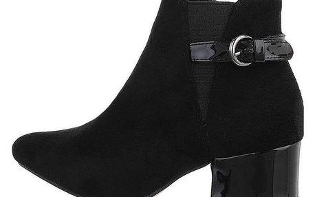 Dámské kotníkové boty na podpatku