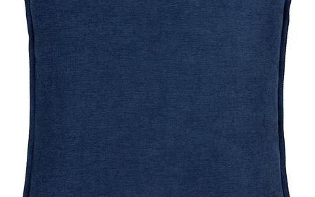 Polštář Ozdobný Poppy, 45/45 Cm, Modrá