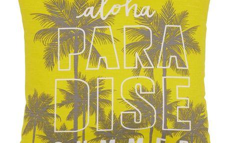Dekorační Polštář Paradise, 45/45cm, Žlutá