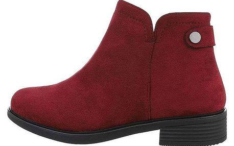 Dámské semišové kotníkové boty