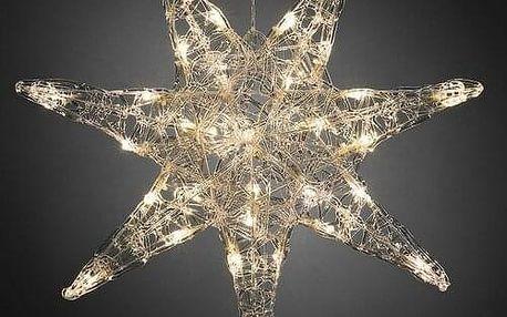 Vánoční 7 cípá hvězda pr. 45 cm, 32 LED