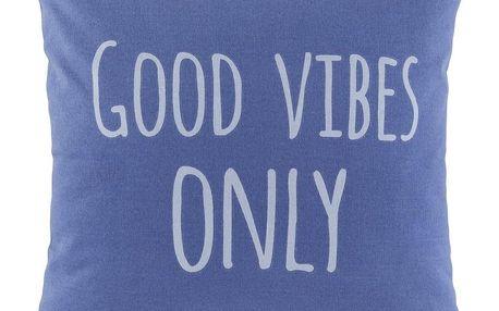 Dekorační Polštář Good Vibes Only,45/45cm, Modrá