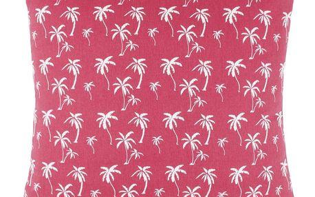 Dekorační Polštář Lady Palms, 45/45cm, Růžová