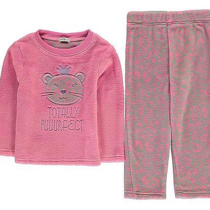 Dívčí fleecové pyžamo Crafted