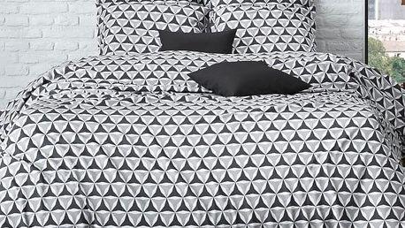 Mistral home Mistral Home povlečení bavlněný perkál Merc šedá-antracitová 140x200/70x90cm