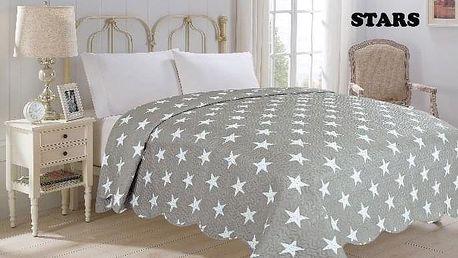 JAHU STARS Přehoz přes postel 220 x 240 cm