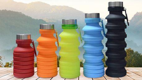 Silikonová skládací láhev v 5 různých barvách