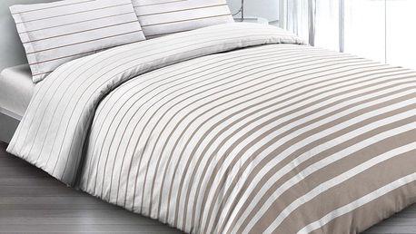 Gipetex Natural Dream Italské povlečení 100% bavlna Rigato beige