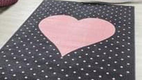 Dětský koberec Bambi 830 pink 120 x 170 cm