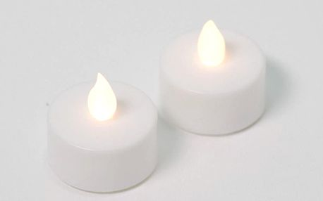 Nexos 42984 Dekorativní sada - 2 čajové svíčky - bílá